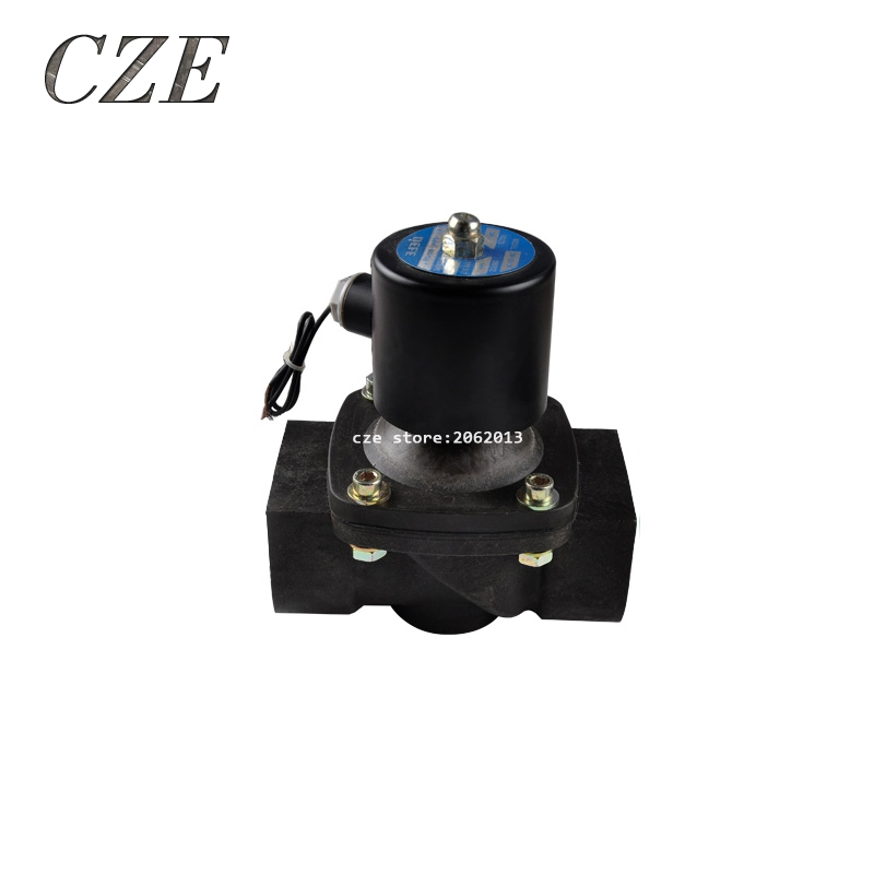 Plastic Water Electromagnetic Solenoid  Valve Anticorrosion Type 2W-500-50 2 AC220V 1 2 built side inlet floating ball valve automatic water level control valve for water tank f water tank water tower