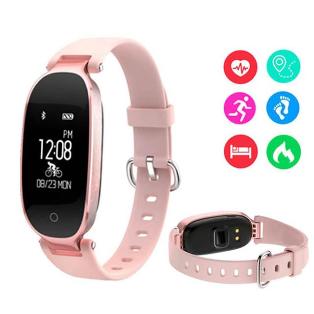LinTimes Multifunction Waterproof Fitness Tracker Smart Bracelet Watch Heart Rat