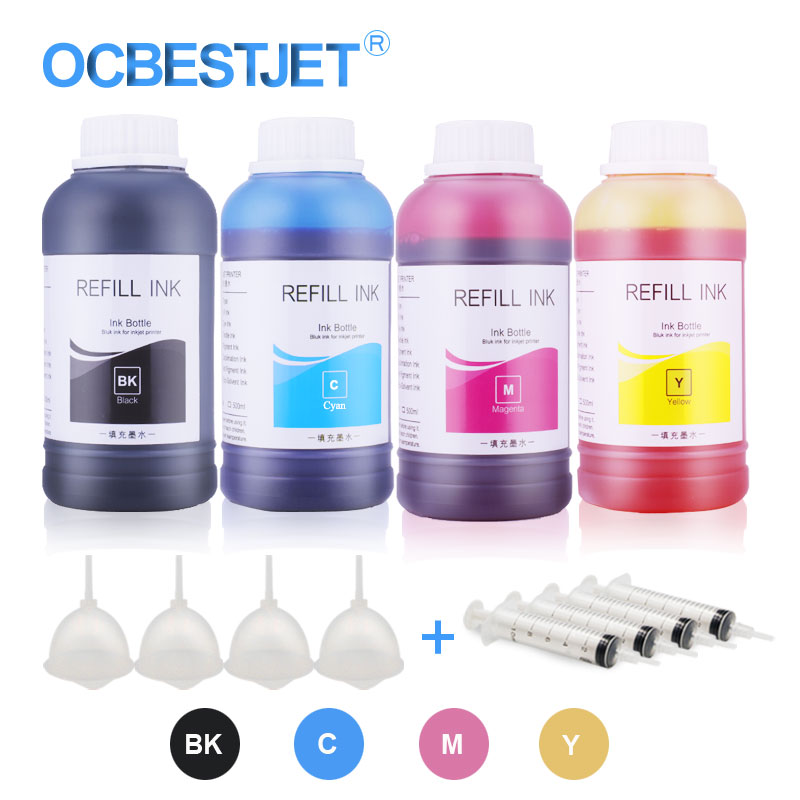 US $25 08 10% OFF|4x250ml Refill Dye Ink For Epson L210 L220 L392 L800  CX4300 CX7300 TX109 TX117 Printer Ink Ciss Ink Dye Ink Bottle For Epson-in  Ink