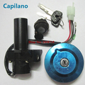 motorcycle scooter YBR125 electric ignition switch lock set power door lock with gas tank cap  for yamaha 125cc YBR 125 (4 line)
