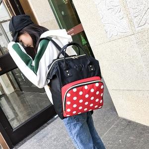 Image 4 - 2019 nouveau sac à dos Disney Mickey mouse Minnie voyage couple toile sac à bandoulière grande mère sac résistant à lusure étudiant sac