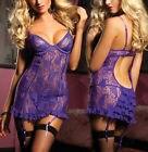 Black Purple Lingerie Babydoll Chemise Plus Size 6 8 10 12 14 16 18 20 S-4XL