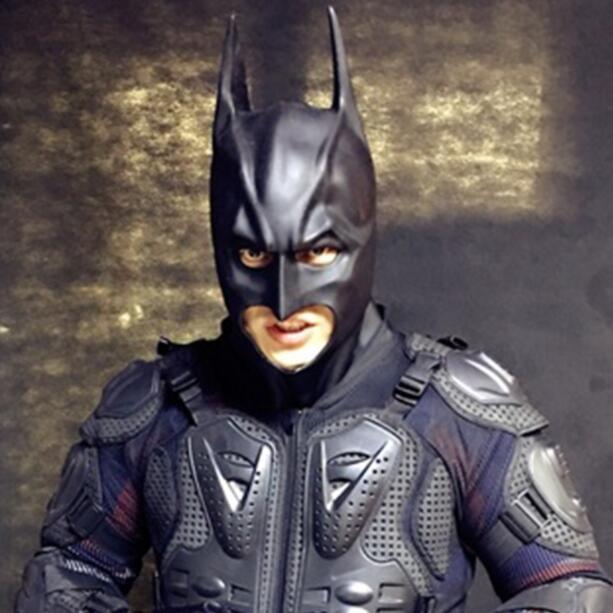 Halloween Full Face Latex Batman Mask Costume Superhero The Dark Knight Rises Movie Party Masks Carnival Cosplay Props n1450