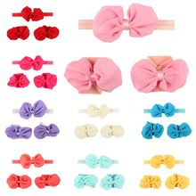 New Chiffon Butterfly Knot Wrist Flower Childrens Clothing Suit for Infant Gifts in 2019