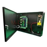 Интеллектуальный Четыре двери доступа Управление Панель + 12 В Питание + металл коробка + сигнализация расширение Панель Tcp/ip L04 двери безопас