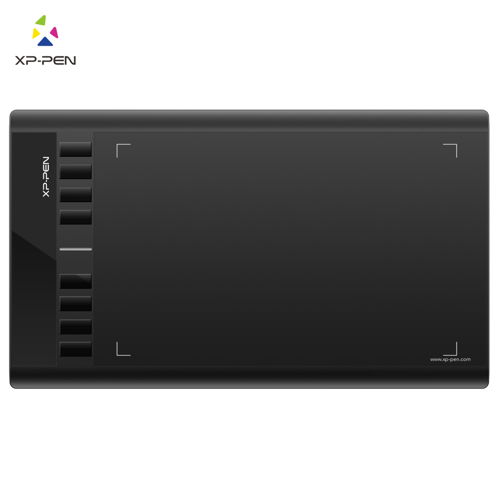 XP-Pen Star03 Graphic Drawing Tablet 10x6 Inch For Beginner With 8 Express Keys And  P01 Stylus No Batteries And Charging