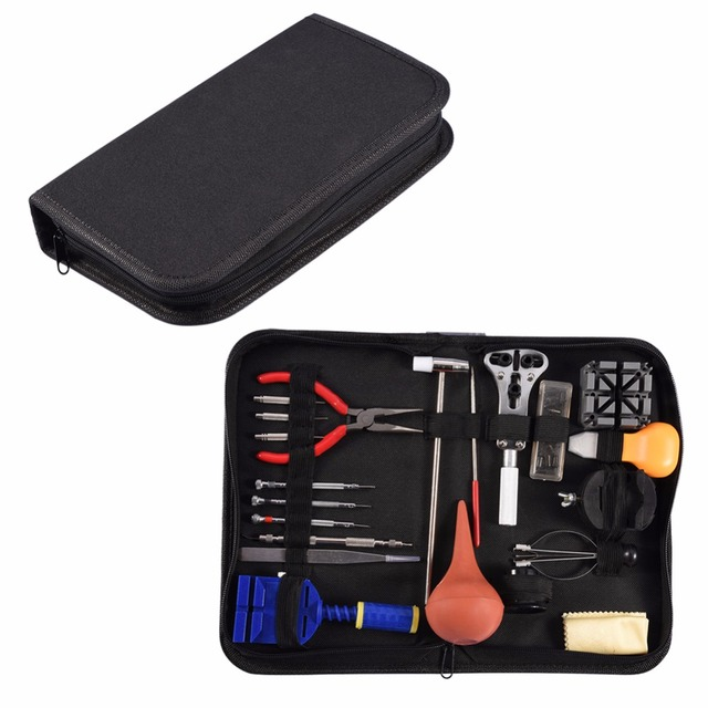 VBESTLIFE Watch Repair Tool Kit Case Opener Hand Remover Spring Bars Press