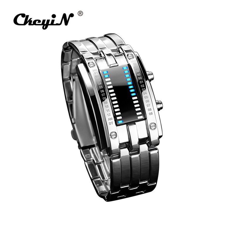 Luxury Women's Watches Unique Design Women Date Digital LED Bracelet Sport Watch Ladies Black Rectangle Electronic Wristwatch 49 stylish golden hollow rounded rectangle hasp bracelet for women