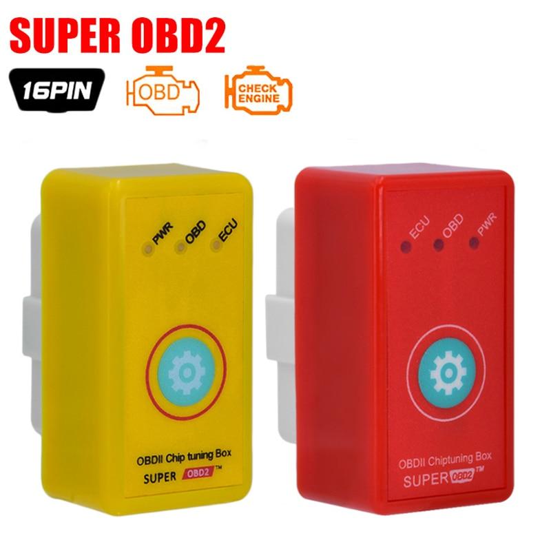 10 шт./лот SuperOBD2 чип-тюнинг автомобиля супер OBD2 с кнопкой сброса более Мощность и крутящий момент, чем NitroOBD2 чип-тюнинг