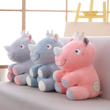 1PC 25/38/48CM High Quality Rhinoceros Plush Toy Baby Sleeping Appease Stuffed Toys Doll Kids Christmas Birthday Gift Home Decor