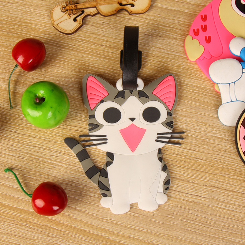 Travel Accessories Animal Cartoon Silica Gel Suitcase ID Addres Holder Baggage Boarding Portable Label Luggage Tag