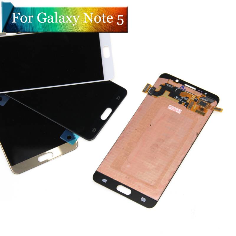 5.7'' SUPER AMOLED for SAMSUNG Galaxy Note 5 LCD N9200 N920F N920A N920T N920C N920V LCD Touch Screen Digitizer Assembly replace