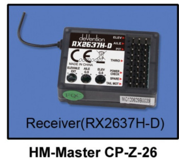 Walkera Master CP parts HM-Master CP-Z-26 Receiver RX2637H-D Walkera Master CP spare parts FreeTrack Shipping фото