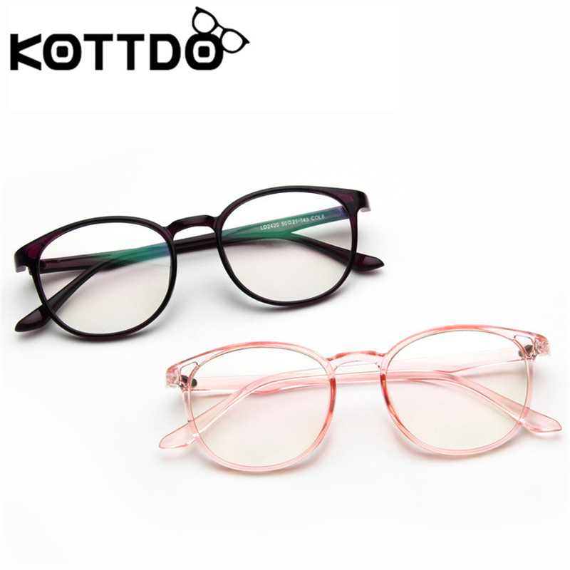 KOTTDO High Quality Brand Designer Transparent Glasses Female Retro Teacher Glasses Frame Female Men Glasses Frame Oculos