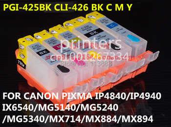 PGI-425 CLI426 cartuccia di inchiostro riutilizzabile per canon PIXMA IP4840 IP4940 IX6540 MG5140 MG5240 MG5340 MX714 MX884 MX894 5 inchiostro a colori