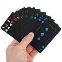 High Quality Poker Playing Cards Set PVC Waterproof Deck With Aluminum Box Party Club Games Gambling