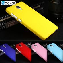 Grind arenaceous Hard Plastic shell 5.0for Xiaomi mi4 Case For Xiaomi Mi4 Mi 4 Cell Phone Back Cover Case(China)