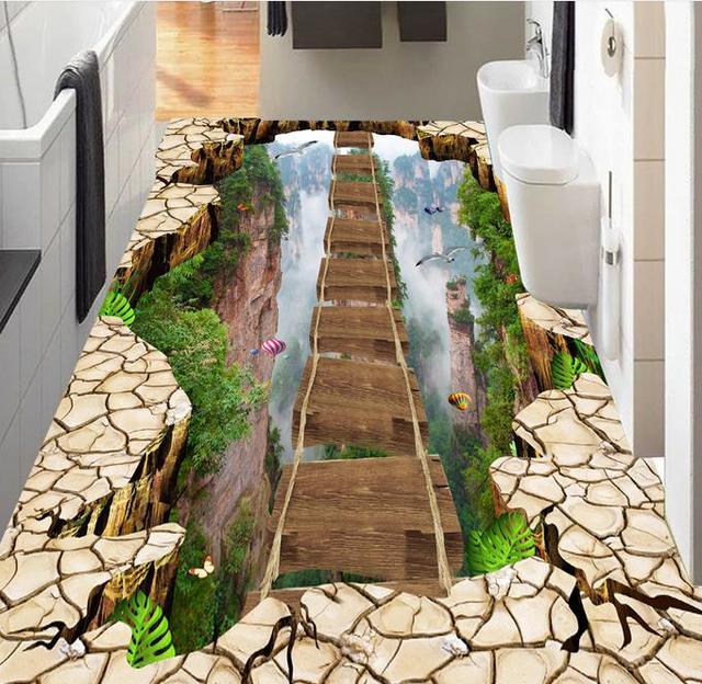Flyover peaks moderne stil 3d bodenfliesen 3d wandbild wand aufkleber schlafzimmer sofa tapete - 3d bodenfliesen ...