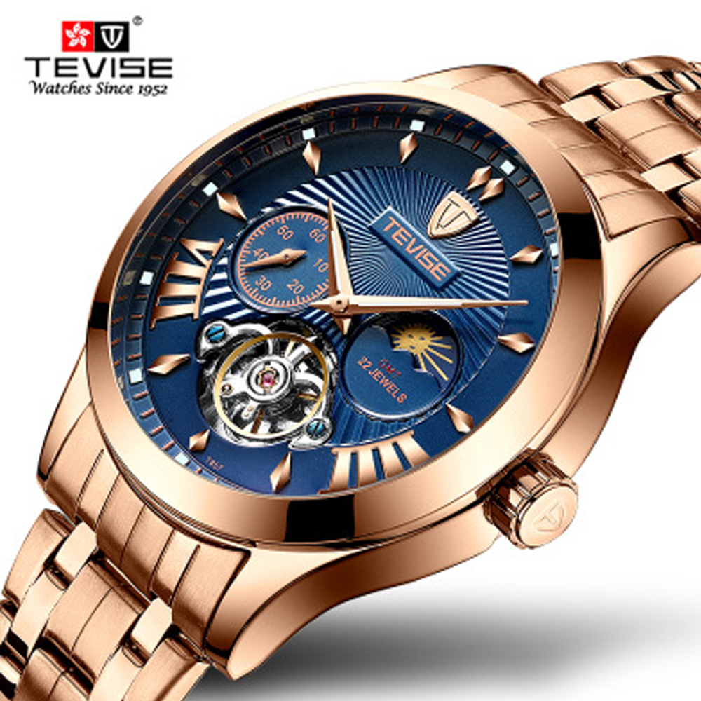 Relogio Masculino Tevise Mens Watch Automatic Mechanical Watches Men Business Winding Watches Waterproof Gift Clock DropshippingRelogio Masculino Tevise Mens Watch Automatic Mechanical Watches Men Business Winding Watches Waterproof Gift Clock Dropshipping