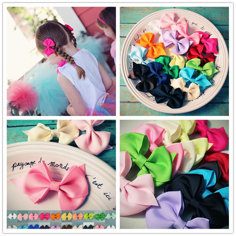 USD1/2Pcs 6cm Original Grosgrain Newborn Bows With 4.5cm Hair Clip Bowknot Hairpin CCute Girls Hair Accessories halloween party zombie skull skeleton hand bone claw hairpin punk hair clip for women girl hair accessories headwear 1 pcs