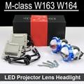 Bi-xenon lente Do Projetor LEVOU Montagem do carro Para Mercedes Benz W163 W164 com halogênio farol APENAS Atualização Retrofit (1998-2008)