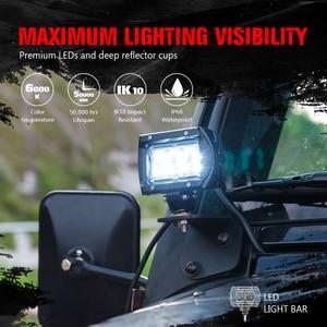 """Image 2 - Luz de led para piscina, luz de led para condução em barra, mictuning 2 peças k1 4 """"18w forjeep fora da estrada atv utv suv caminhão barco"""