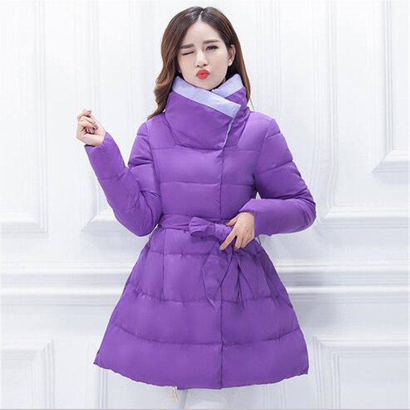 Down Jacket Female Middle long 2016 New Winter Maternity Coat Large size Women Cotton Down Jacket