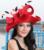 2017 Mujeres Vestido de Boda de la Playa Cóctel de la Tarde Del Partido de La Iglesia de Derby Sombreros de Sun Cap Boinas Sombrero de Ala Ancha de La Vendimia Nueva
