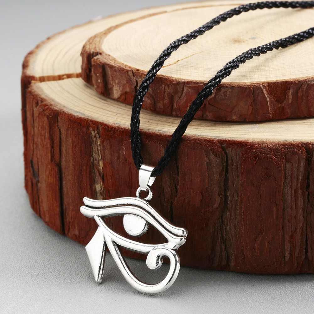 CHENGXUN starożytnych faraona Horus Eye naszyjnik egipski Amulet naszyjnik w stylu Vintage Hawk biżuteria akcesoria Boho prezent