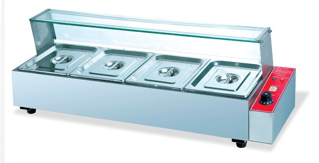 Commerical Stainless Steel Electric 4 Pans Bain Marie