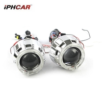 2 5inch Bixenon Car Styling Projector Lens With Dual DRL Day Running Angel Eyes Angel Eyes