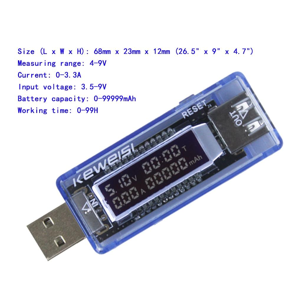Probador de capacidad del cargador de corriente y voltaje USB Medidor - Instrumentos de medición - foto 5