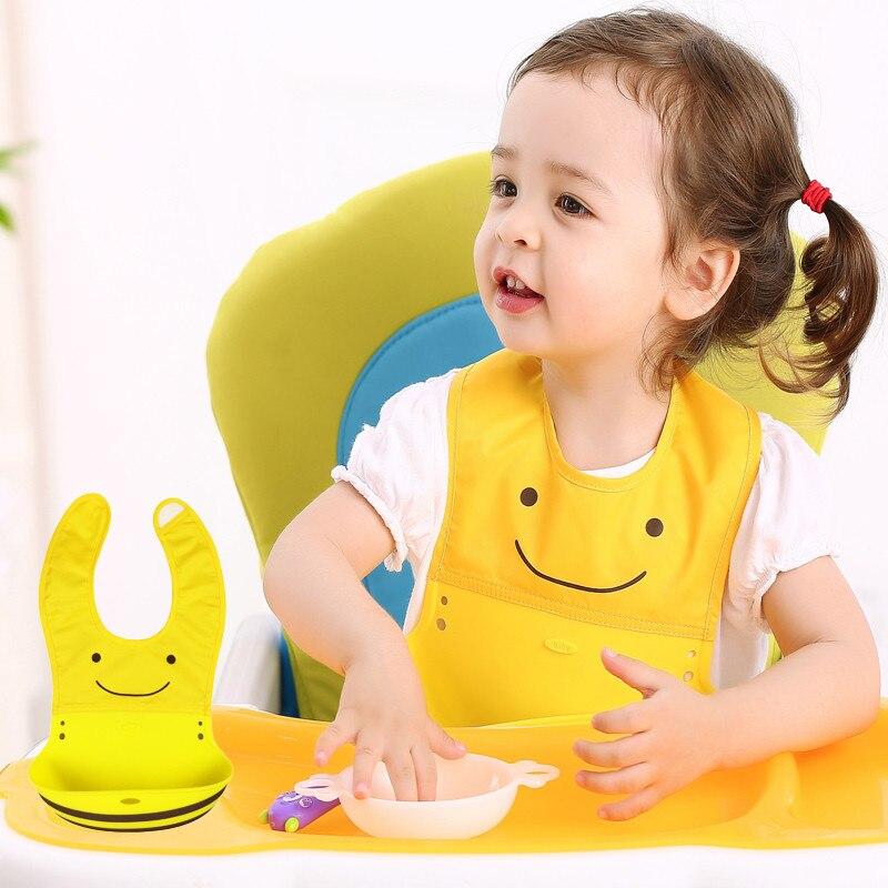 Waterproof Baby Bib Silicone Baby Bib Bandana Infant burp Cloth Silicone Baby Boy Feeding Bibs Burp Coths Saliva Towels Lot