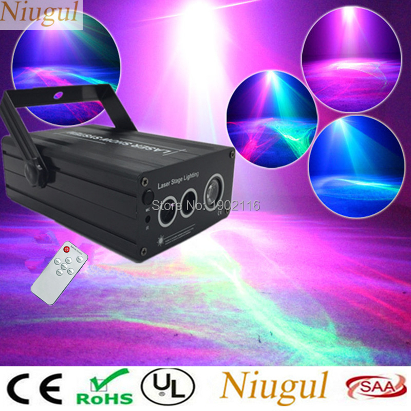 Niugul LED Laser Stage Lighting ,RGB 3 Lens Water Wave Effect Mini Laser Projector For DJ Disco Party KTV ,Magical Effect Laser eldar wave serpent scatter laser turret
