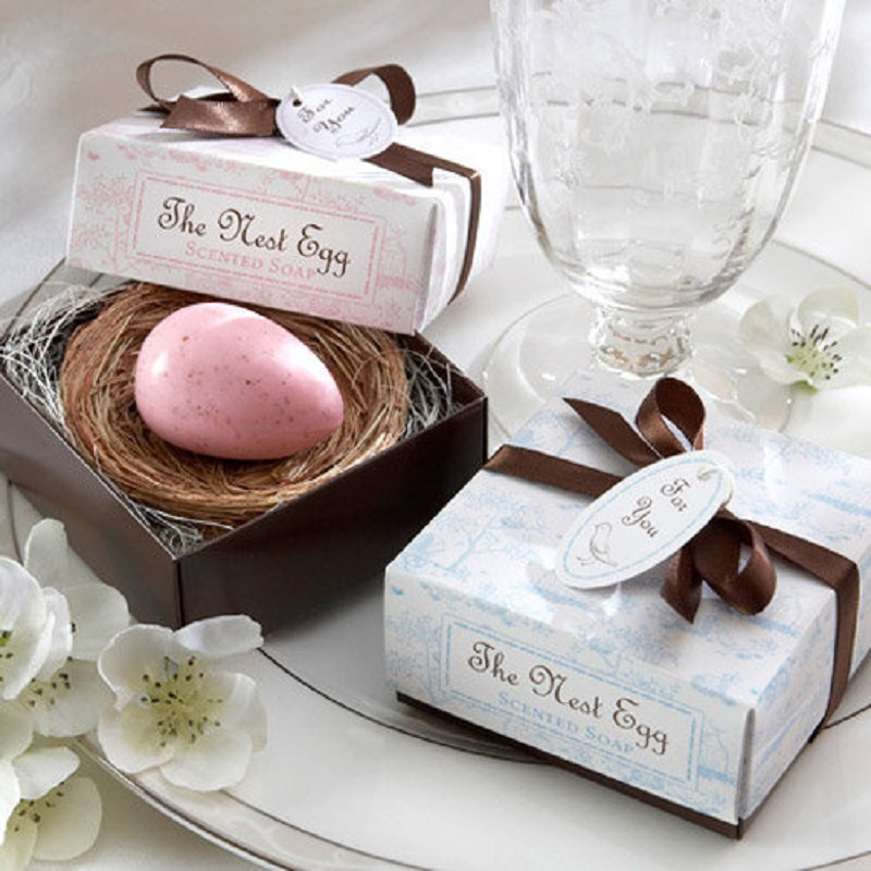 200pcs free shipping the birds nest egg scented soap wedding favor wedding gifts party favor baby