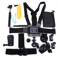 Accessories 13 in 1 Set Family Kit For GoPro SJ4000 SJ5000 SJ6000 accessories for GoPro HD Hero 1 2 3 3+ 4 xiaomi Xiaoyi