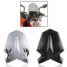 Motorcycle Touring Racing Windscreen Windshield Screen with Mounting Bracket For 2017-2018 KTM Duke 125 390 for bmw g310r 2017 on motorcycle windshield windscreen with mounting bracket high quality abs plastic