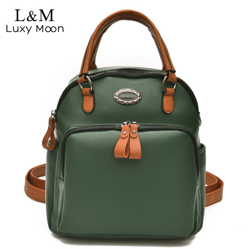 Luxy moon Women Backpack Soft PU Leather Multifunction Backpacks Large Shoulder Bag Teenage Girls School Bags mochila XA527H brand women backpack pu leather school backpacks for teenage girls shoulder bag large capacity travel bags