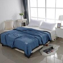 YAXINLAN хлопок одеяло уют прохладный Легкий и дышащий однотонное можно стирать Домашнее использование