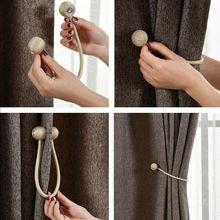 2 pcs Pratical Home Decor Buckle Holder Magnetic Curtain Tieback Magnet Window Strap 2019 Newest