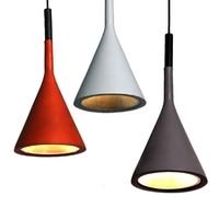 GZMJ Black Brown Grey White Lamp Resin Led Pendant Light Fixtures Kitchen Restaurant Bedroom Loft Nordic