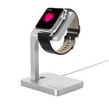 Goosuu apple watch soporte apple watch reloj de la aleación de aluminio de carga de metal base de apple watch accesorios envío gratis