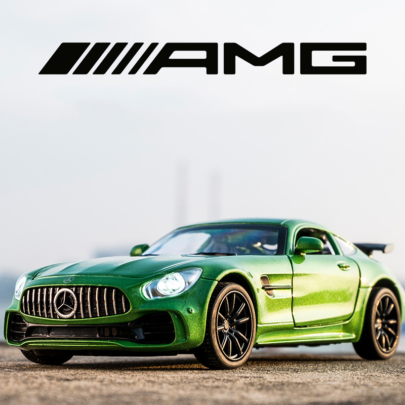 Alloy BENZ GT GTR AMG Pull Back Diecast Car Model With Sound Light MINIAUTO Toy Vehicles Toys For Childre 1:32 Sports Cars