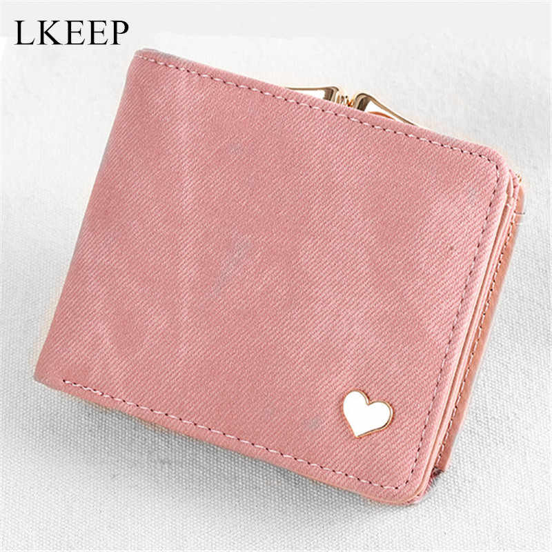 Colorful Lady Short Cute Coin Purse Golden