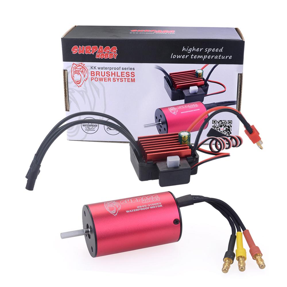 KK Waterproof 2845 2600KV 2800KV 3100KV 3800KV 4000KV Brushless Motor w 35A ESC for Traxxas HSP 1 12 RC Monster Buggy Off road in Parts Accessories from Toys Hobbies