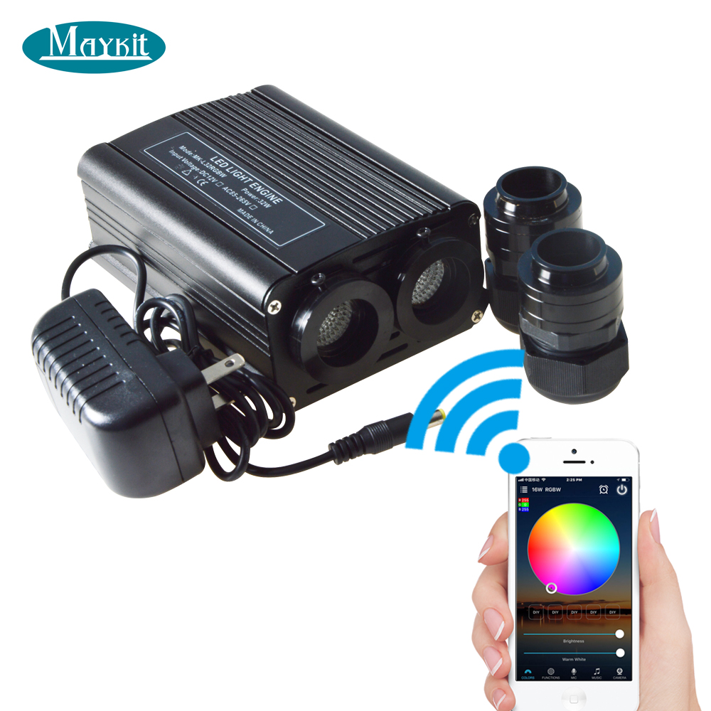 Maykit 32 Watt WiFi Control Smartphone APP RGB RGBW LED Fiber Optic Light Engine