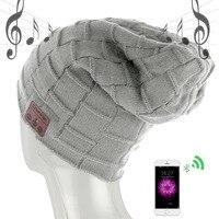 New Wireless Bluetooth Headset Hat Knitted Bluetooth Cap Headphone Warm Winter Hats Music Player Earphone Fashion