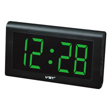 2017 24 Hours new Modern Table clock,LED Wall Clock , Big numbers Large Display digital clocks With EU/US plug