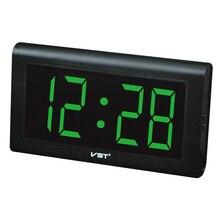 2017 24 Hours new Modern Table clock,LED Wall Clock , Big numbers Large Display digital clocks With EU/US plug
