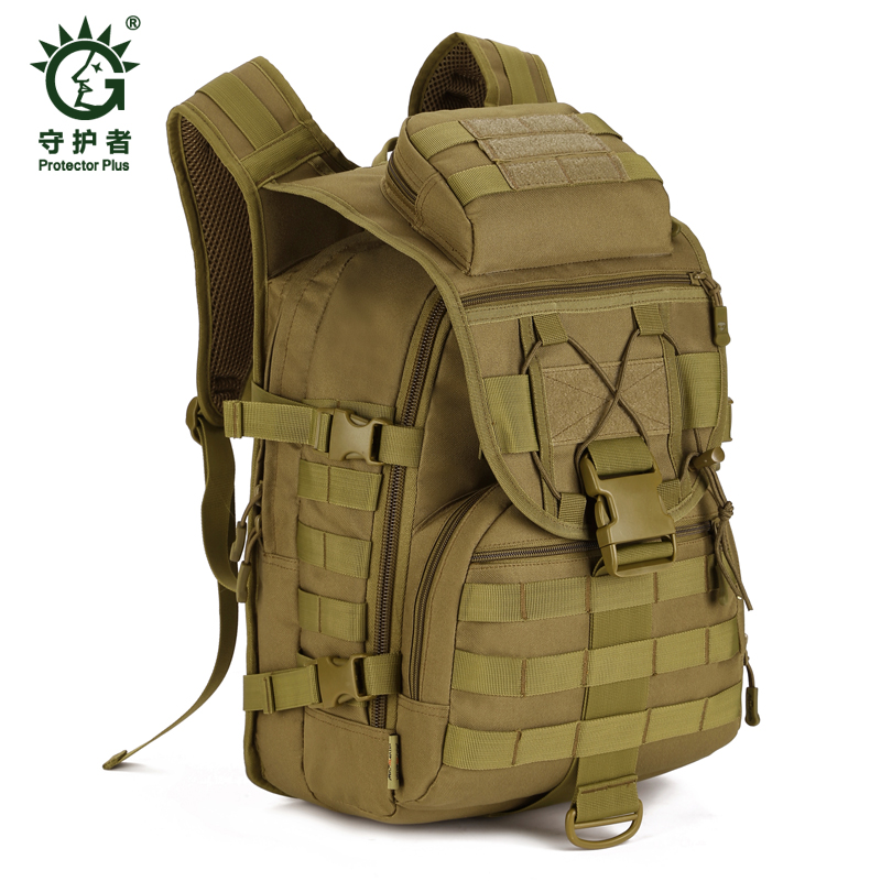 40L Large Capacity Travel Camouflage backpack Tactical Military Outdoor Camping Hiking Nylon bag Sports Shoulder Backpacks nylon color splicing camouflage pattern shoulder bag